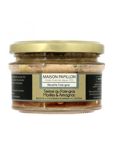 Terrine 50% Foie-gras Morilles &...
