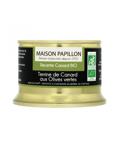 Terrine de Canard aux Olives vertes BIO