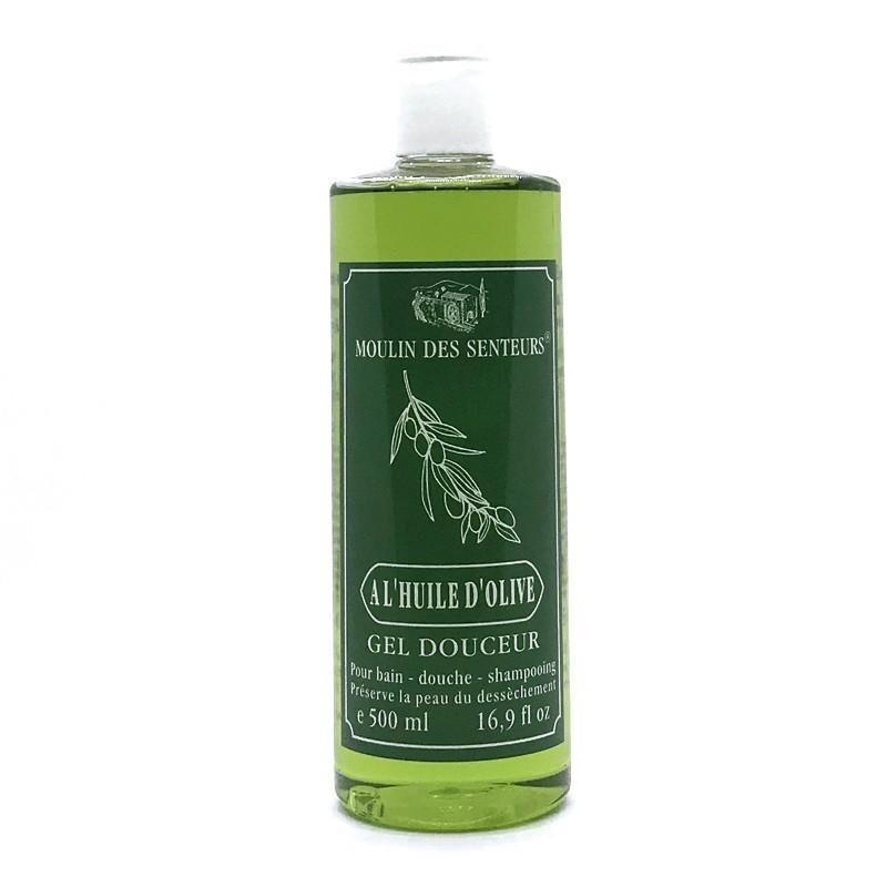 Moulin de la Garrigue - Cosmétique - Gel douche Huile d'Olive 500 ml - Moulins des senteurs